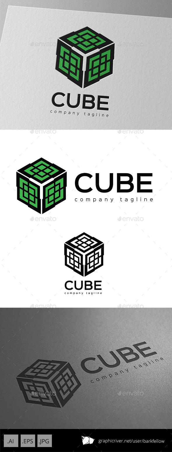 GraphicRiver Cube Ornament Logo 10072084