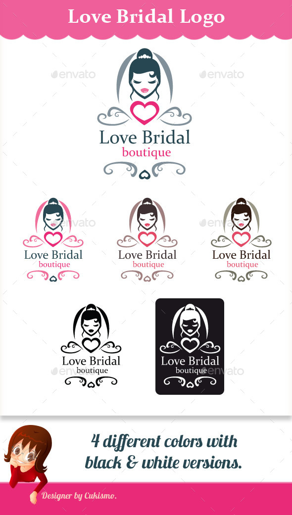 GraphicRiver Love Bridal Logo 10072131