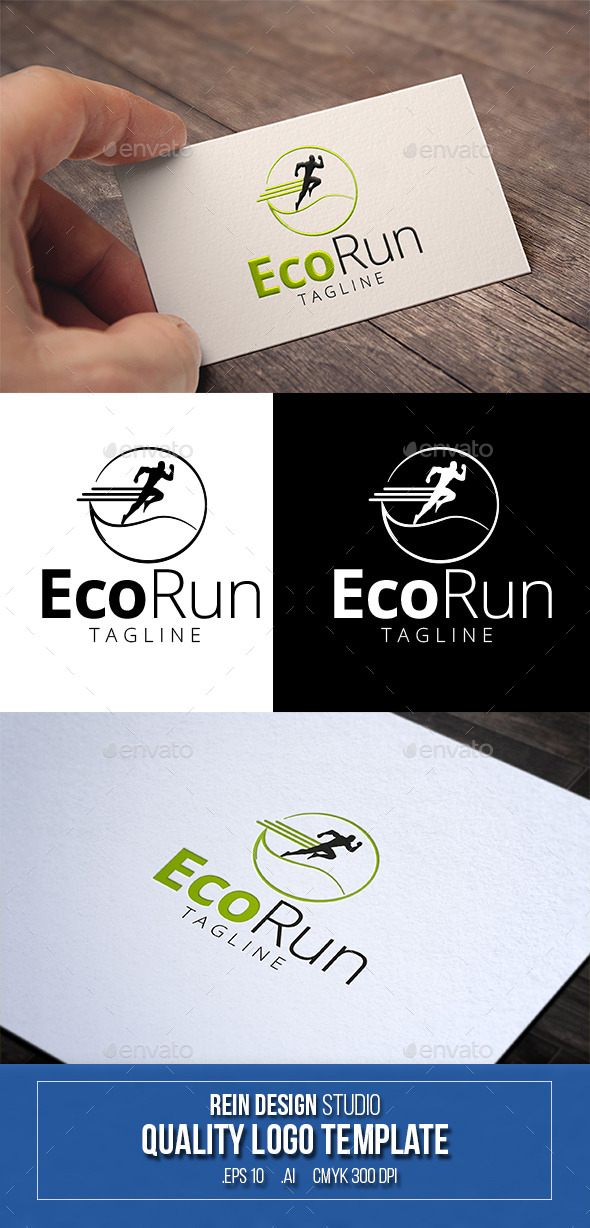 GraphicRiver Eco Run Logo 10073038
