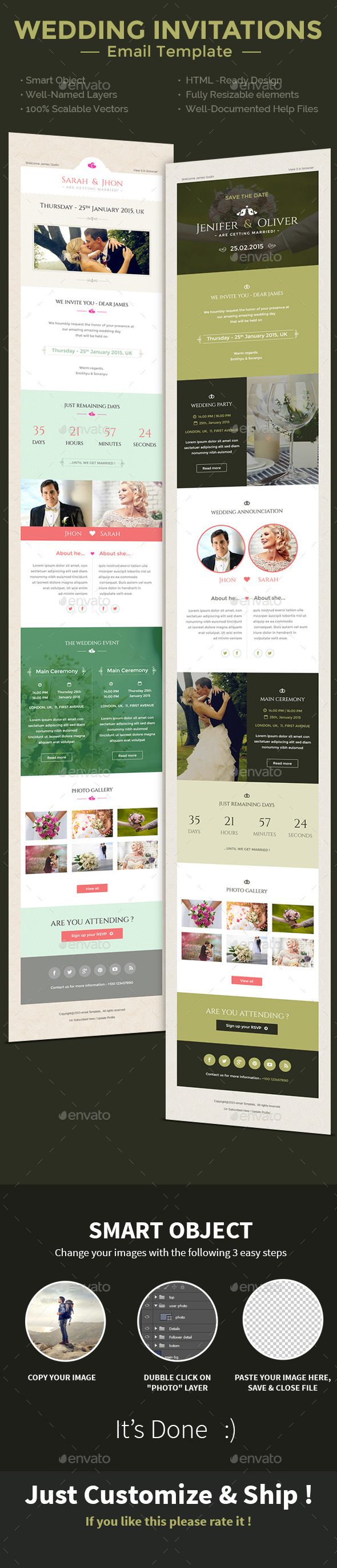 GraphicRiver Wedding Invitation PSD Email Templates 10073302