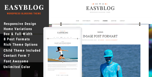 ThemeForest Easyblog Responsive WordPress Blog Theme 9998769
