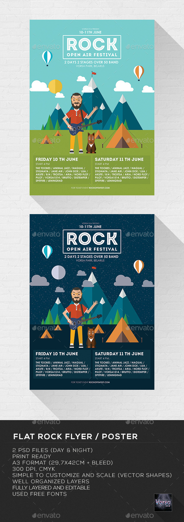 GraphicRiver Flat Rock Flyer Poster 10073467