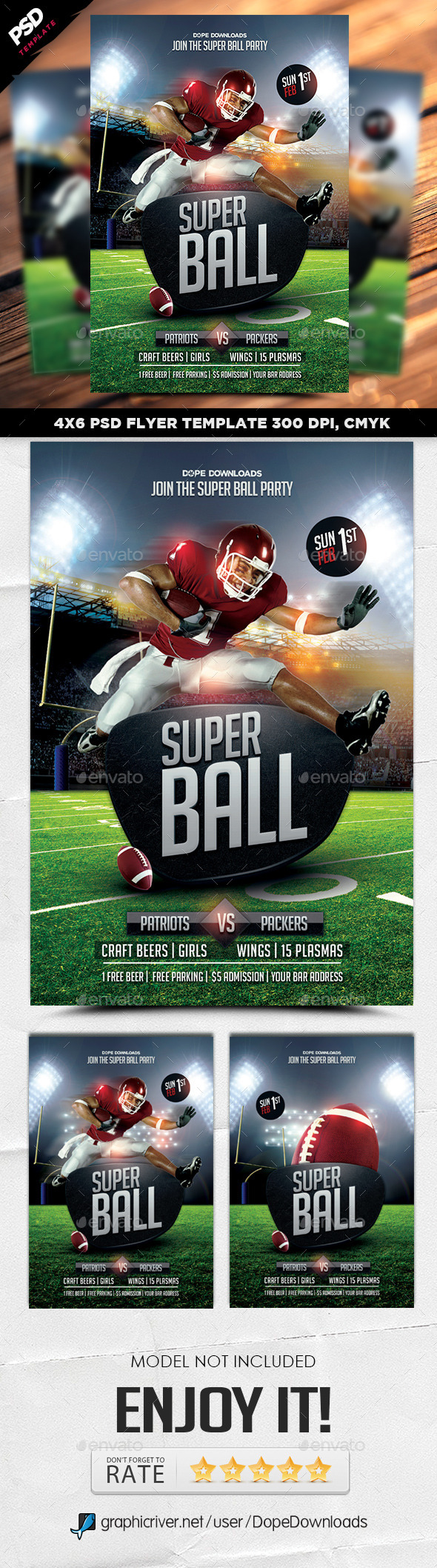 Super Ball Football Final Flyer