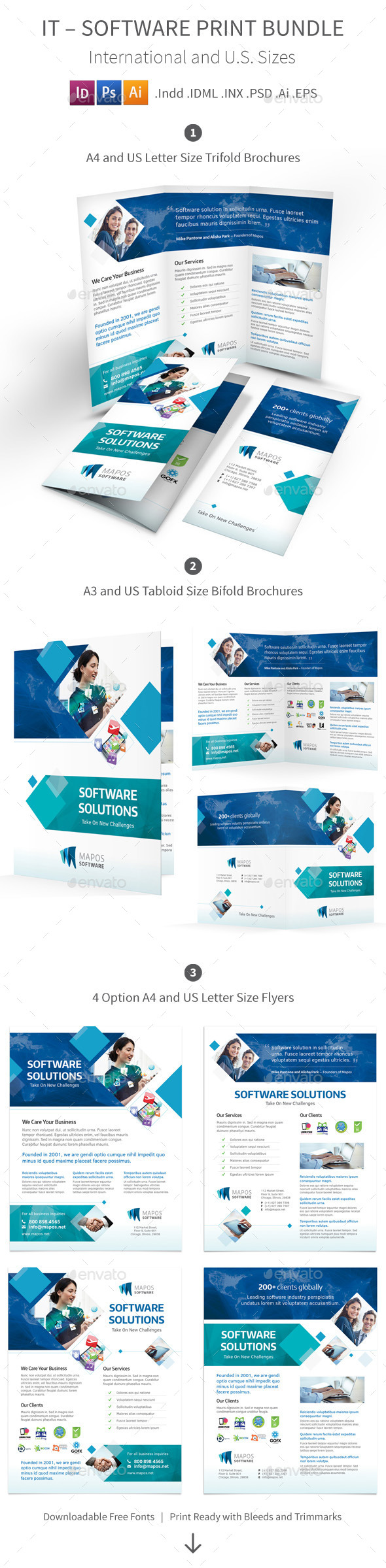 GraphicRiver IT Software Print Bundle 10073847
