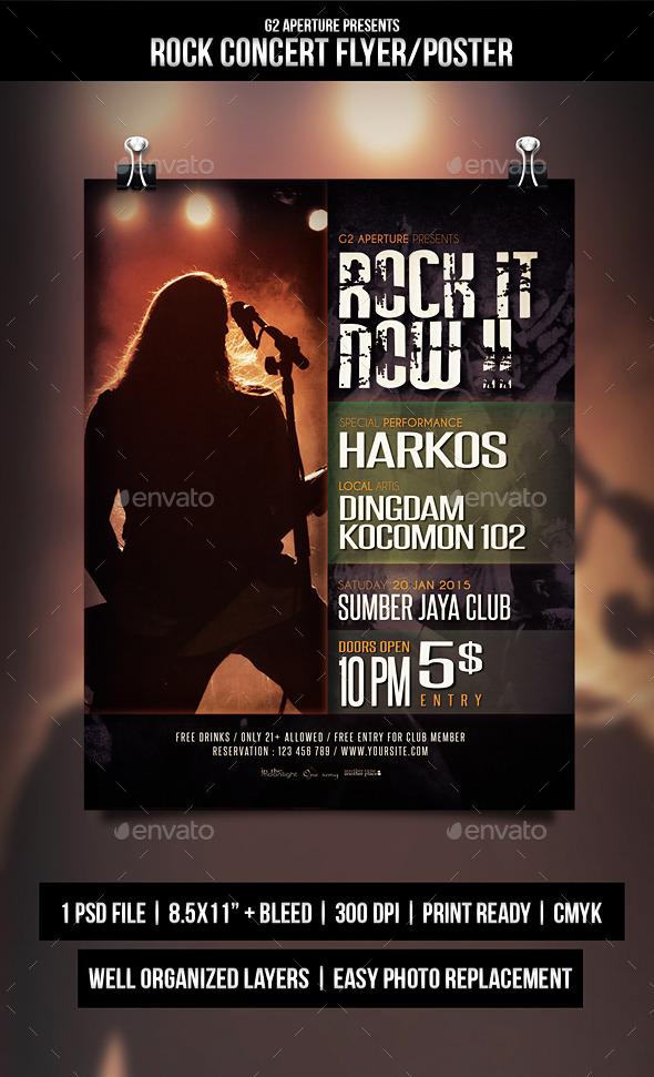 GraphicRiver Rock Concert Flyer Poster 10073954