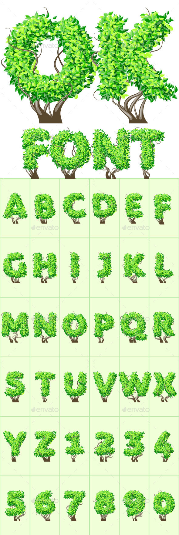 GraphicRiver Detailed Tree Aalphabet 10073963