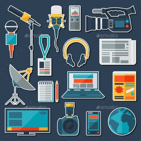GraphicRiver Set of Journalism Icons 10074229
