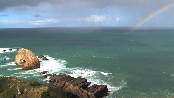 VideoHive Nugget Point 07 Rainbow 10074423