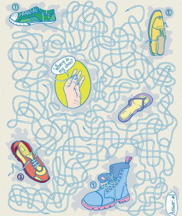 GraphicRiver Shoes Maze Game 10074658