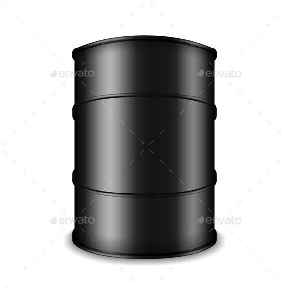 GraphicRiver Black Oil Barrel 10074920