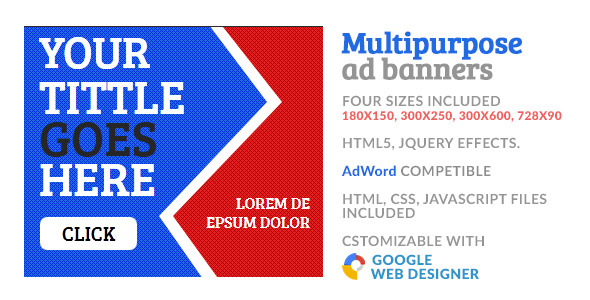 Multipurpose GWD HTML5 Ad Banner