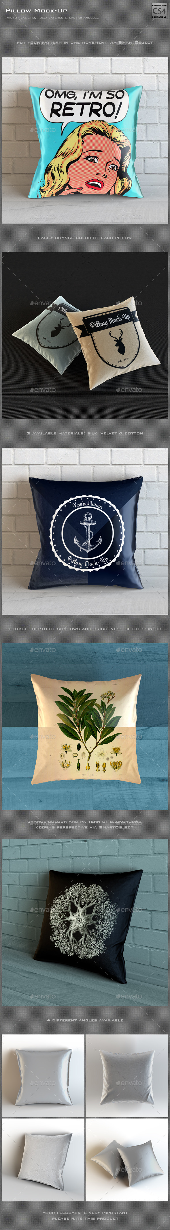 GraphicRiver Pillow Mock-Up 10075012