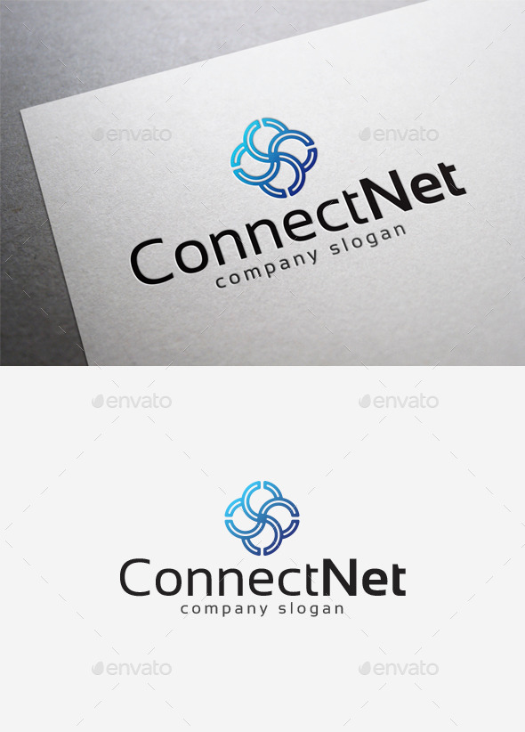 GraphicRiver Connect Net Logo 10075118