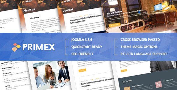 ThemeForest Primex Joomla Responsive Corporate Template 9997864