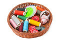 thread and buttons in a basket - PhotoDune Item for Sale