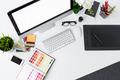 Creative professional designer's desk top