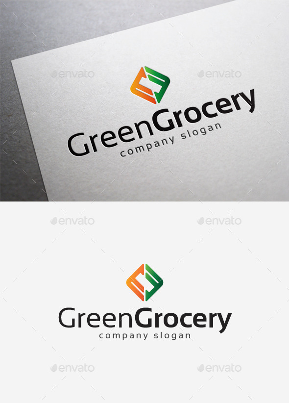 GraphicRiver Green Grocery Logo 10075456