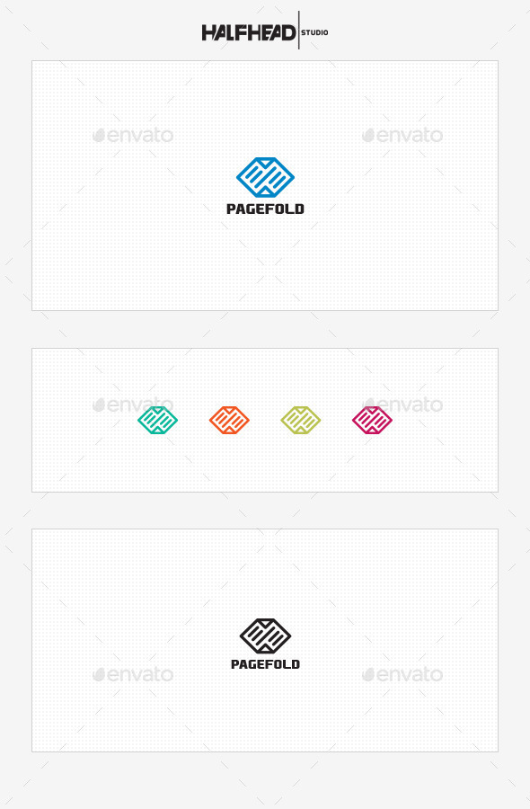 GraphicRiver PageFold Logo Template 10075542