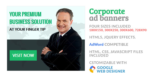 CodeCanyon GWD Corporate HTML5 Ad Banner 10076237