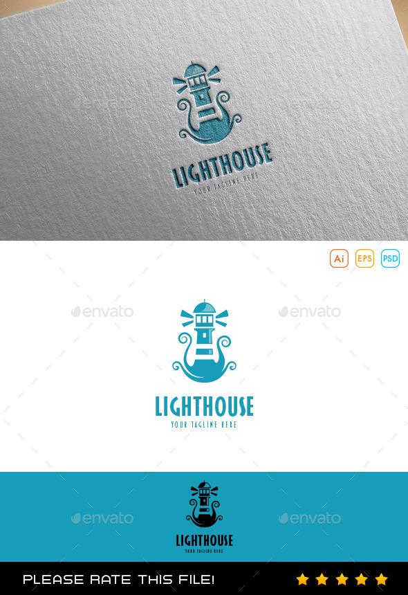 GraphicRiver Lighthouse Logo 10078802