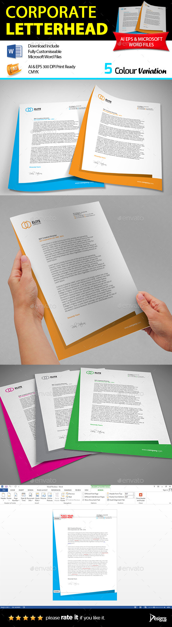 GraphicRiver Letterhead 10078857