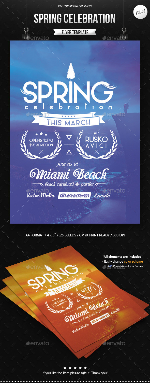 GraphicRiver Spring Celebration Flyer [Vol.2] 10056319