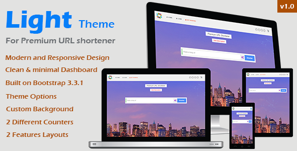 CodeCanyon Light Theme for Premium URL Shortener 10078934