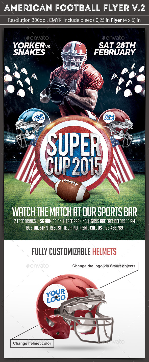 GraphicRiver American Football Flyer v.2 10054927