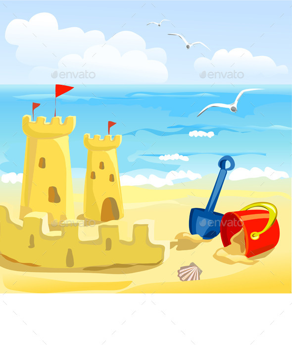 GraphicRiver Sandcastles and Childrens Toys 9150166
