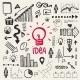 Vector Hand Drawn Doodle Business Idea Set - GraphicRiver Item for Sale