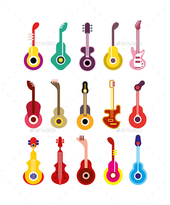 GraphicRiver Guitars 10079575