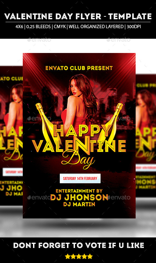 GraphicRiver Valentine Day Party 2015 Flyer 10024616