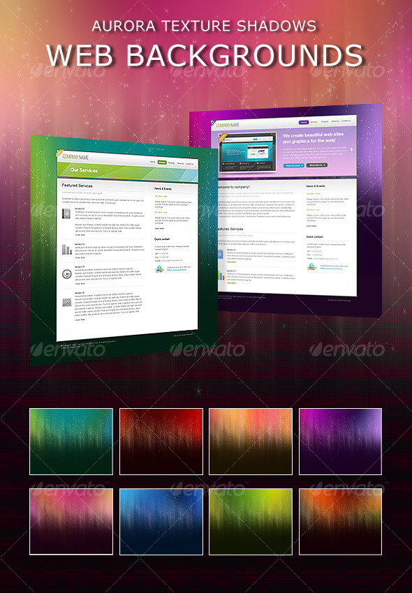 Aurora Shadows Web Backgrounds - Miscellaneous Web Elements