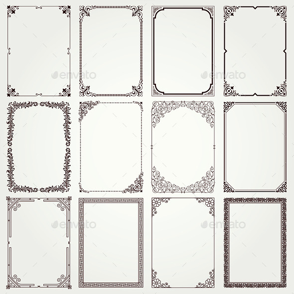 GraphicRiver Decorative Frames and Borders 10080176