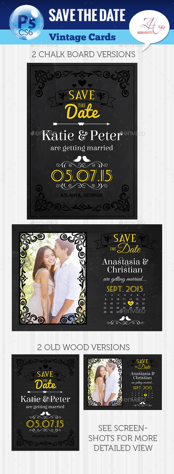 GraphicRiver Save The Date Cards 10080221
