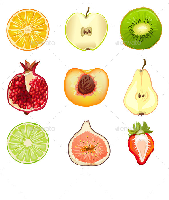 GraphicRiver Fruits Berries Half 10080301