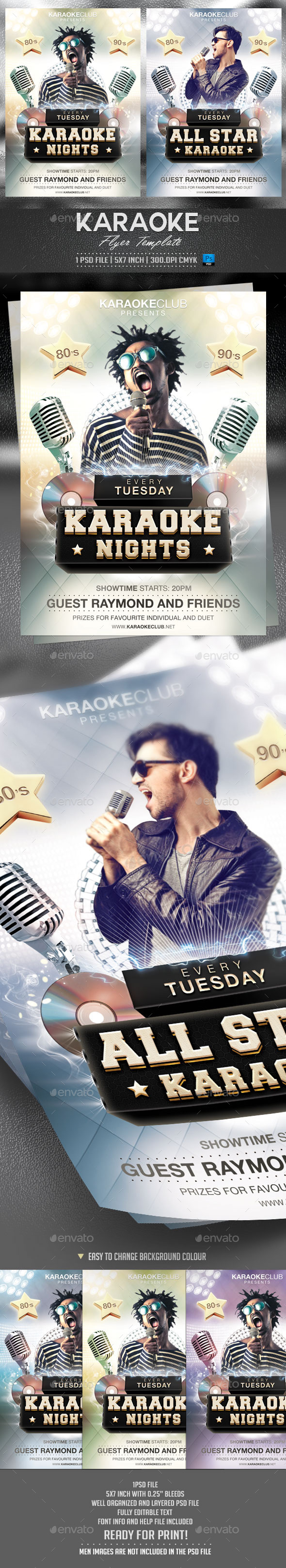GraphicRiver Karaoke Flyer Template 10080357