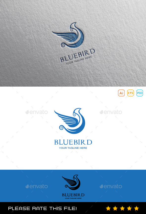 GraphicRiver Blue Bird Logo 10080441