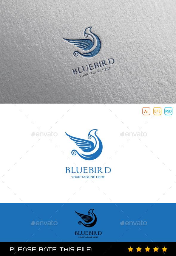 GraphicRiver Blue Bird Logo 10080441