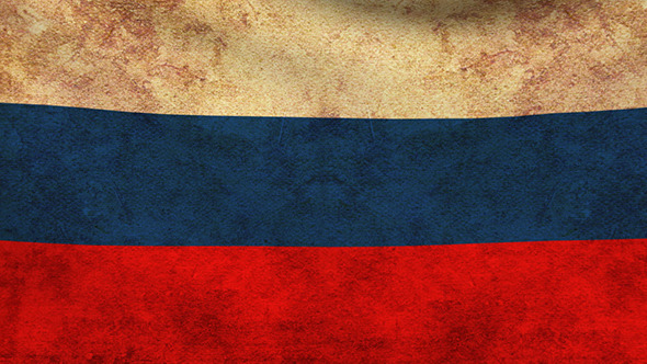 Russia Flag Grunge 2 Pack
