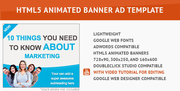 CodeCanyon Cool Marketing HTML5 Animated Banner 10080825
