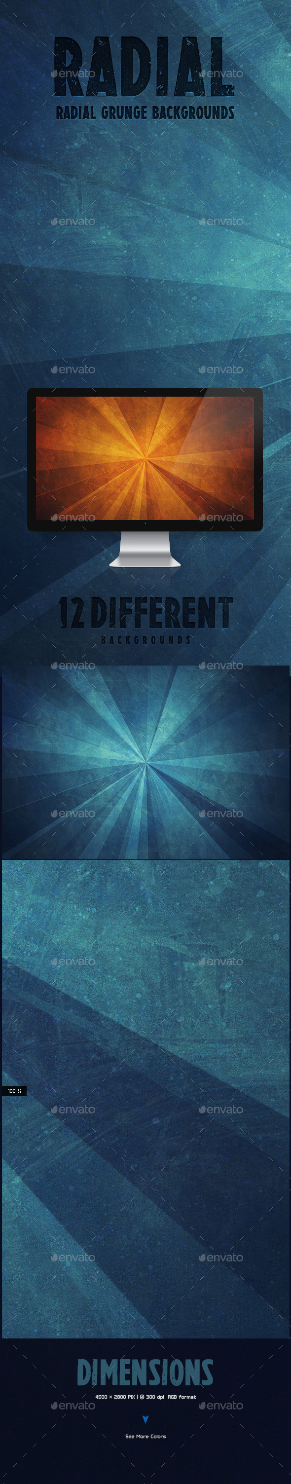 GraphicRiver Radial Grunge Backgrounds 10081040