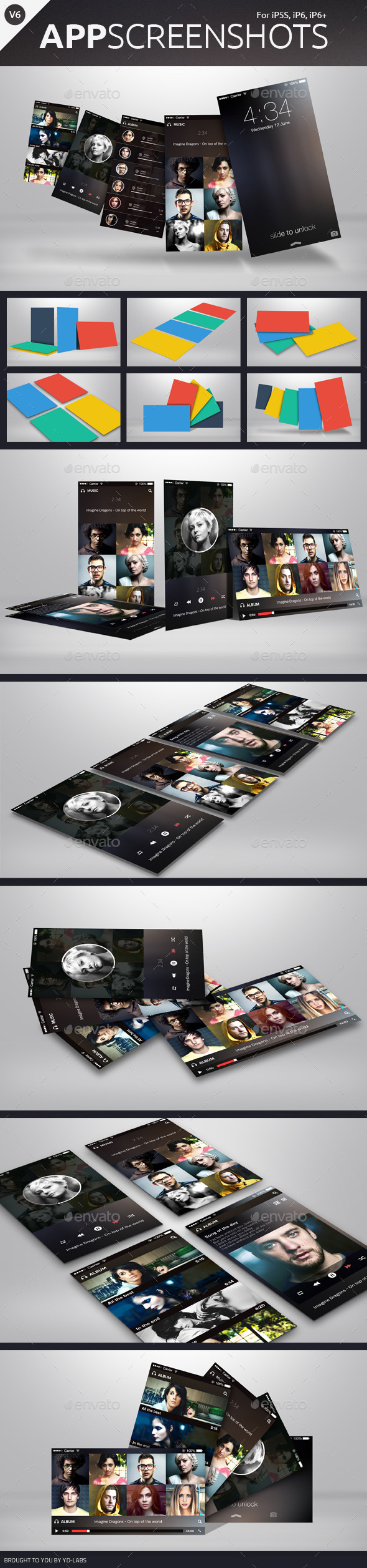 GraphicRiver App Screenshot Mockups V6 10081534