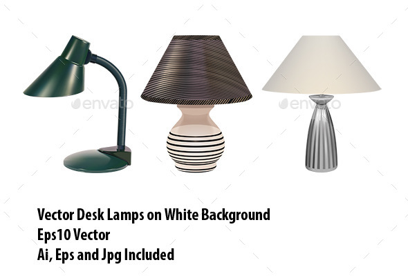 GraphicRiver Table Lamps Set 10081563