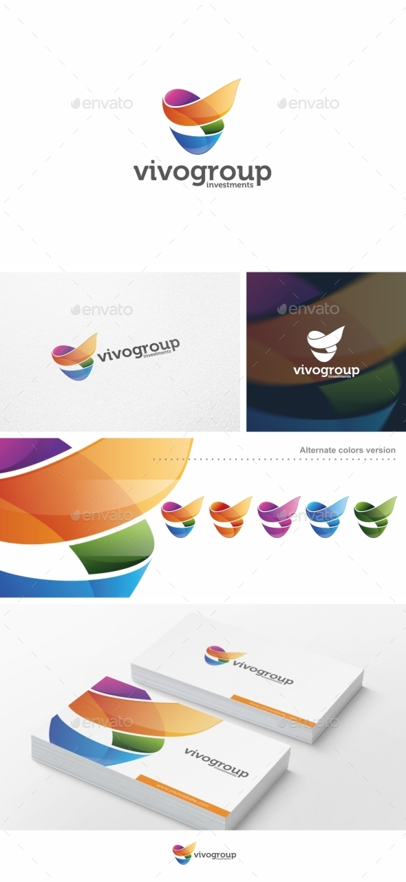 GraphicRiver Abstract V Letter Logo Template 10081670