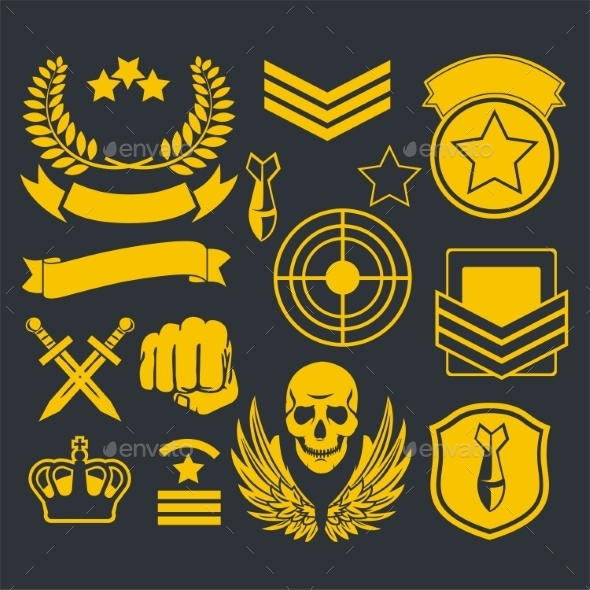 GraphicRiver Special Unit Military Patches 10082565