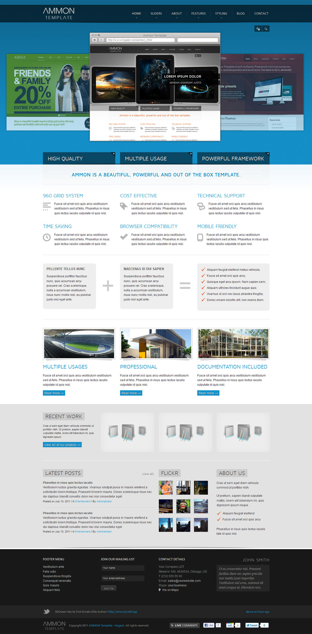 Ammon Template - GENERAL PAGE - PORTFOLIO SHOWCASE