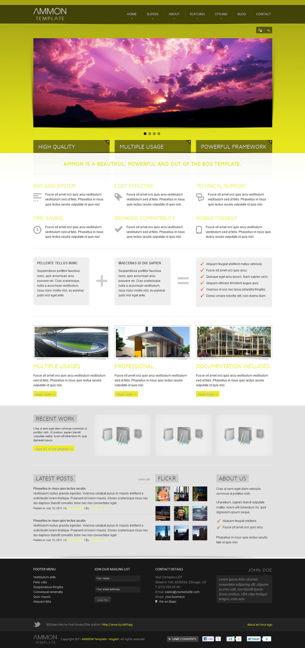 Ammon Template - GENERAL PAGE - HOMEPAGE - NIVO SLIDER
