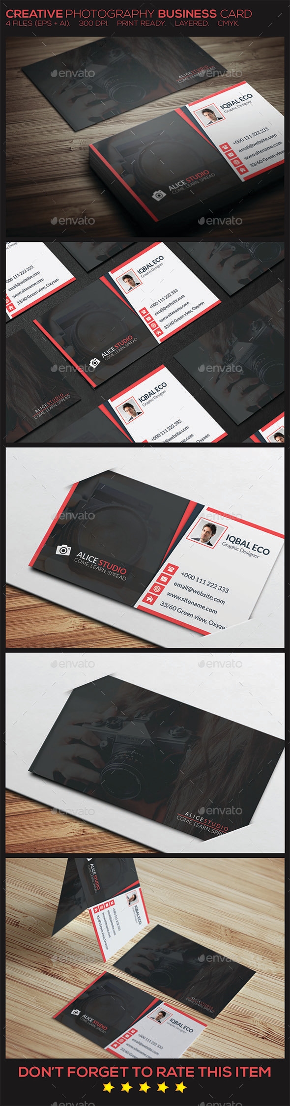 GraphicRiver Creative Photography Business Card 10082755