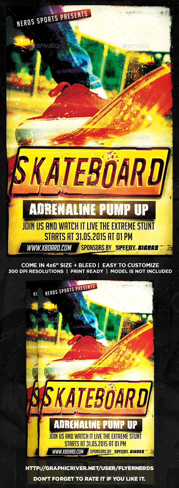 GraphicRiver Skateboard Competition Sports Flyer 10082984